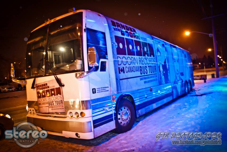 DOORN Records Bus Tour Canada 2014