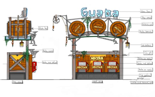 Guaba Beach Bar club renewal sketch